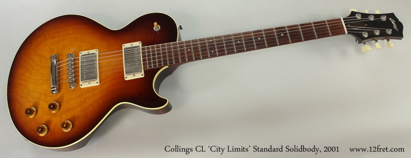 Collings CL 'City Limits' Standard Solidbody, 2001 Full Front View