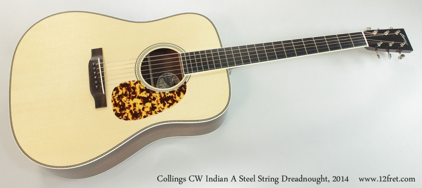 Collings CW Indian A Steel String Dreadnought, 2014 Full Front View