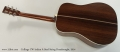 Collings CW Indian A Steel String Dreadnought, 2014 Full Rear View