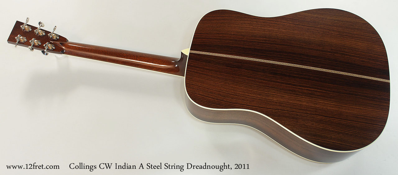 Collings CW Indian A Steel String Dreadnought, 2011 Full Rear View