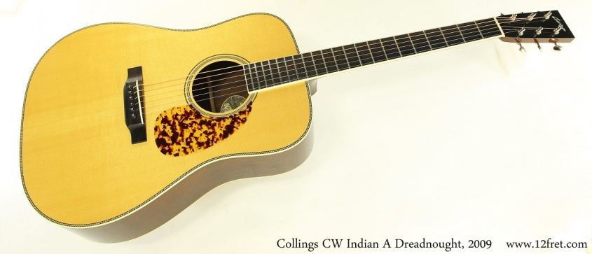 Collings CW Indian A Dreadnought, 2009 Full Front View