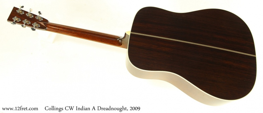 Collings CW Indian A Dreadnought, 2009 Full Rear View