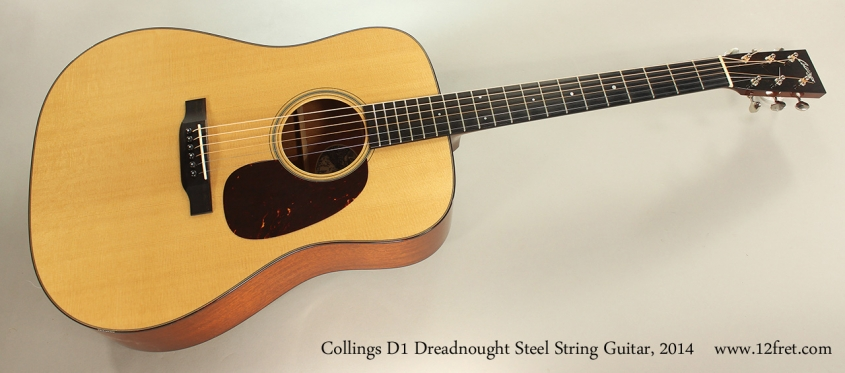 Collings D1 Dreadnought Steel String Guitar, 2014 Full Front View