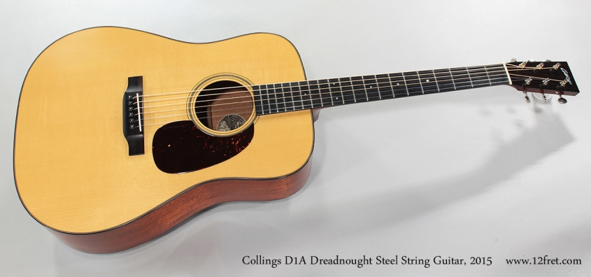 Collings D1A Dreadnought Steel String Guitar, 2015 Full Front View