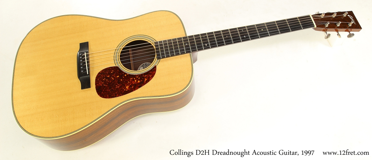 Collings D2H Dreadnought Acoustic Guitar, 1997   Full Front View