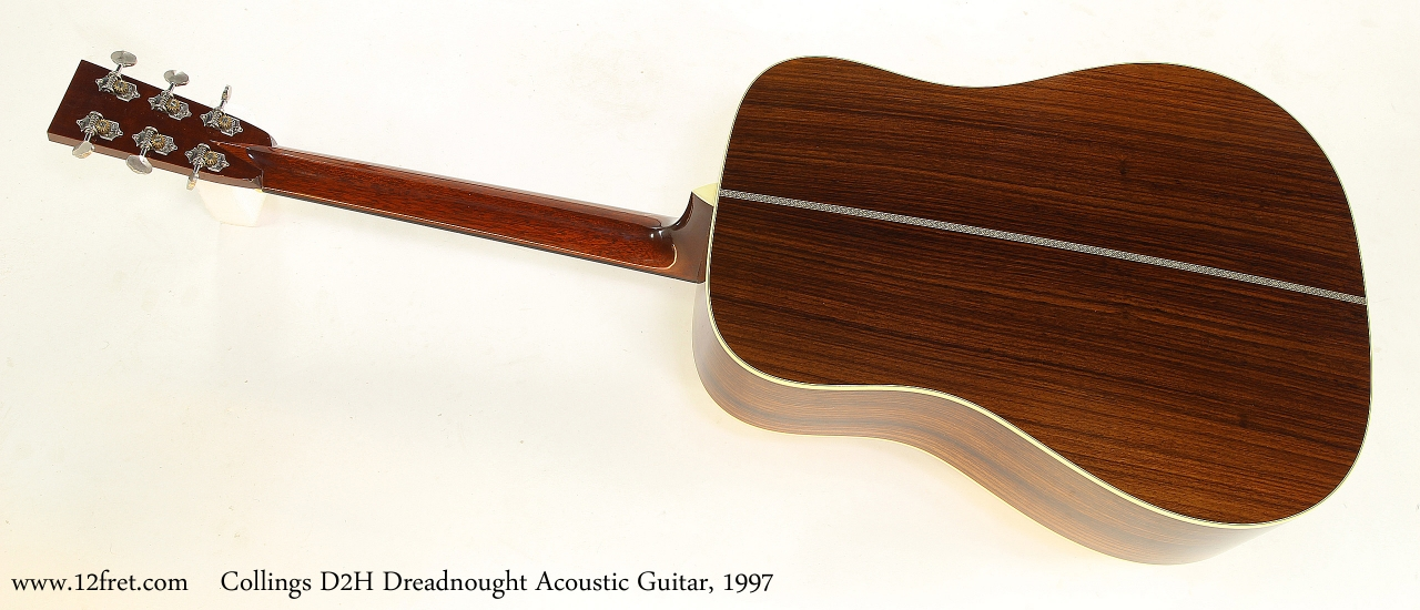 Collings D2H Dreadnought Acoustic Guitar, 1997   Full Rear View