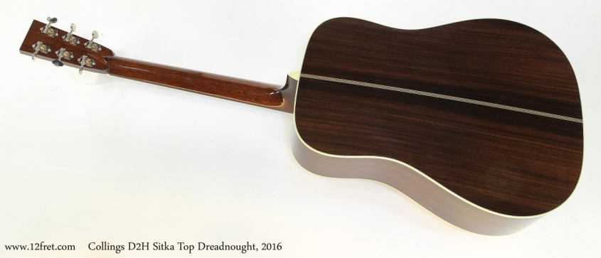 Collings D2H Sitka Top Dreadnought, 2016   Full Rear VIew