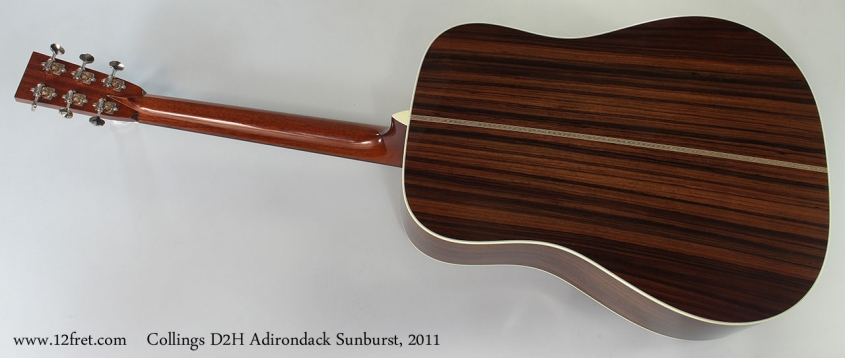 Collings D2H Adirondack Sunburst, 2011 Full Rear View