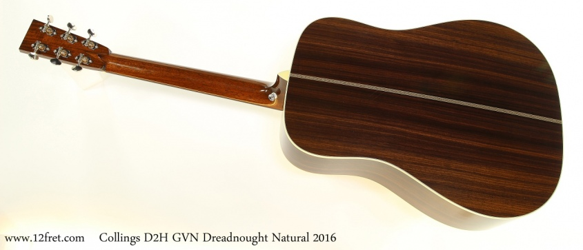 Collings D2H GVN Dreadnought Natural 2016 Full Rear View