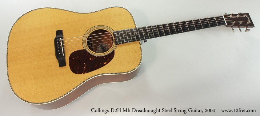 Collings D2H Mh Dreadnought Steel String Guitar, 2004 Full Front View