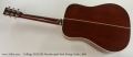 Collings D2H Mh Dreadnought Steel String Guitar, 2004 Full Rear View