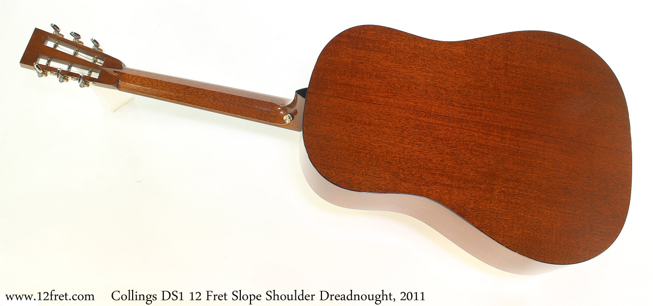 Collings DS1 12 Fret Slope Shoulder Dreadnought, 2011 Full Rear View