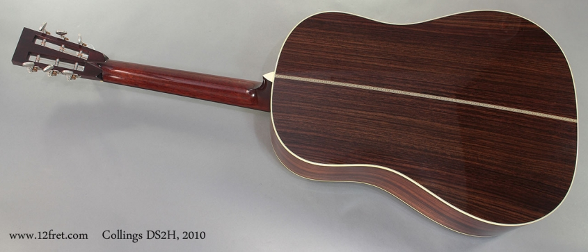 Collings DS2H 2010 full rear view