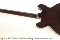 Collings I-35 LC Deluxe Thinline Archtop Guitar Sunburst 2015 Full Rear View