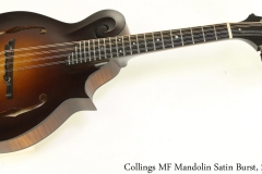 Collings MF Mandolin Satin Burst, 2019 Full Front View