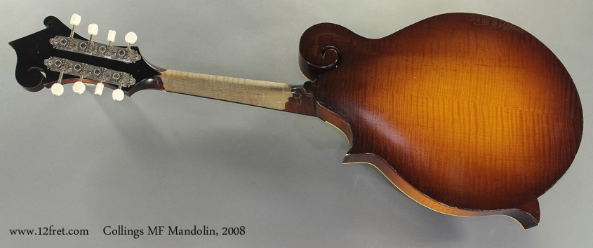 Collings MF Mandolin 2008 full rear view