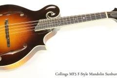 Collings MF5 F-Style Mandolin Sunburst 2012   Full Front View