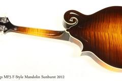 Collings MF5 F-Style Mandolin Sunburst 2012   Full Rear View
