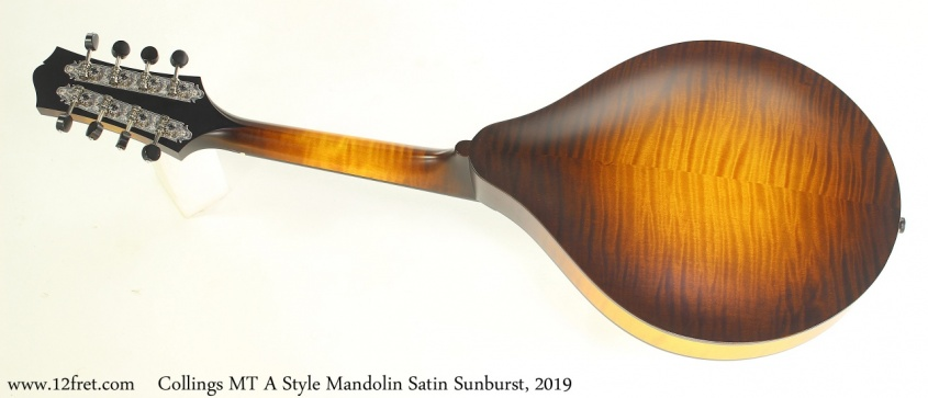 Collings MT A Style Mandolin Satin Sunburst, 2019 Full Rear View