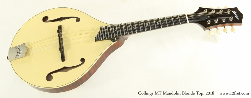 Collings MT Mandolin Blonde Top, 2018  Full Front View