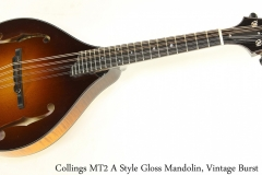 Collings MT2 A Style Gloss Mandolin, Vintage Burst Full Front View