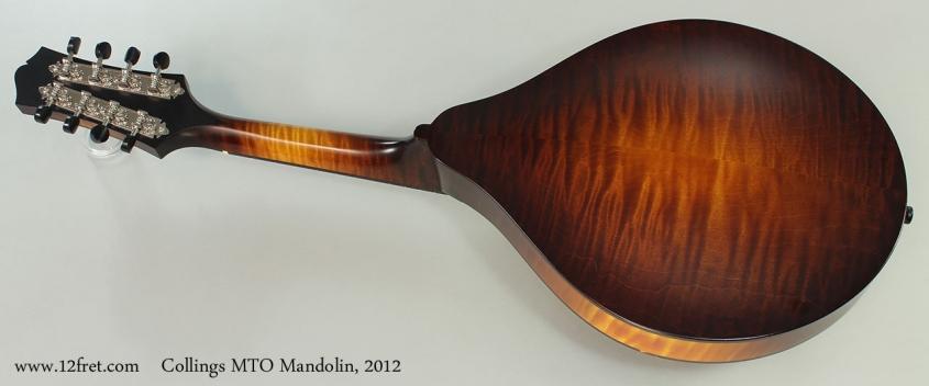 Collings MT-O Mandolin, 2012 Full Rear View