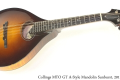 Collings MTO GT A Style Mandolin Sunburst, 2011 Full Front View