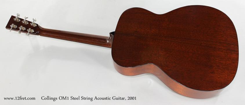 Collings OM1 Steel String Acoustic Guitar, 2001 Full Rear View