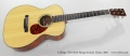 Collings OM1 Steel String Acoustic Guitar, 2001 Full Front View