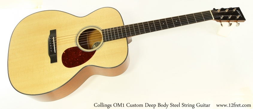 Collings OM1 Custom Deep Body Steel String Guitar Full Front View