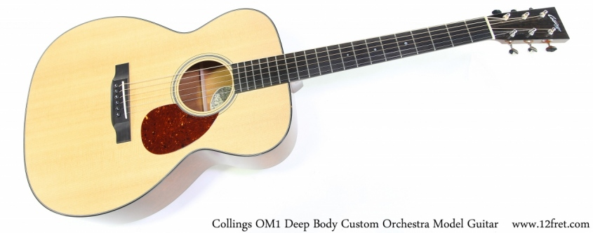 Collings OM1 Deep Body Custom Orchestra Model Guitar Full Front View