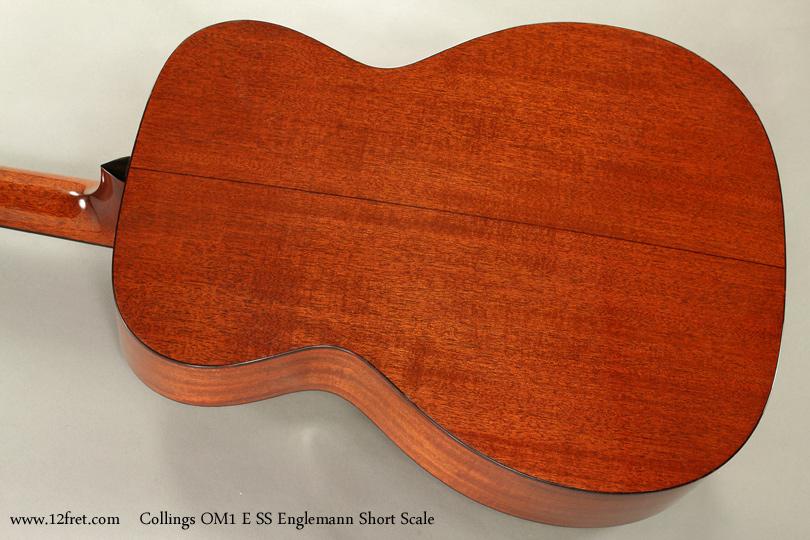 Collings OM1 E SS Englemann Short Scale Acoustic  back