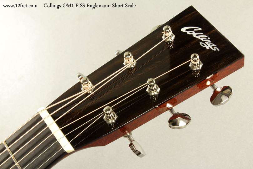 Collings OM1 E SS Englemann Short Scale Acoustic head front