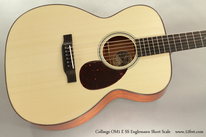 Collings OM1 E SS Englemann Short Scale Acoustic top