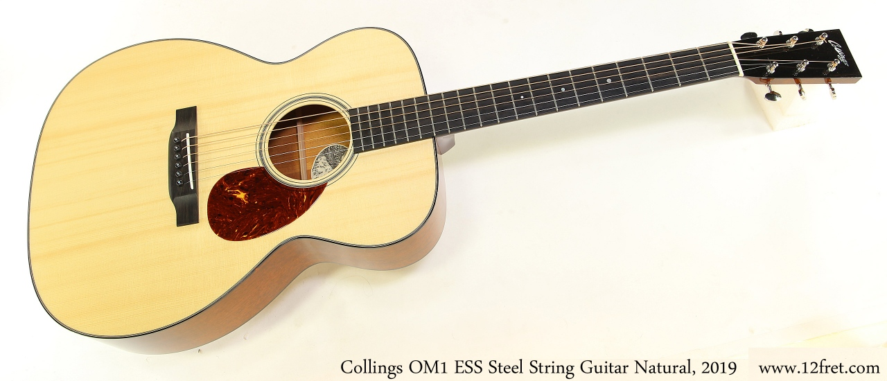 Collings OM1 ESS Steel String Guitar Natural, 2019 Full Front View