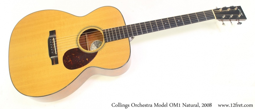 Collings Orchestra Model OM1 Natural, 2008 Full Front View
