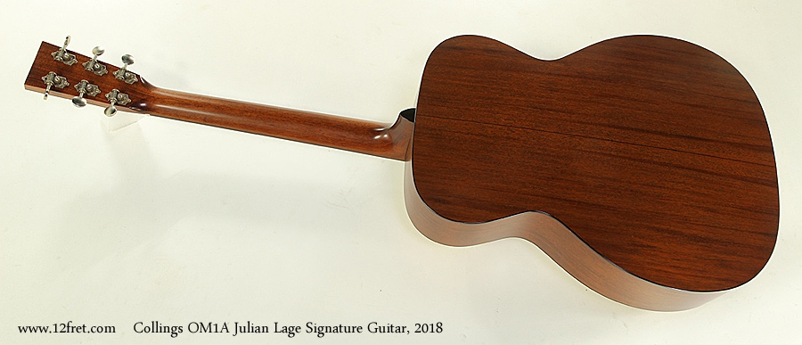 Collings OM1A Julian Lage Signature Guitar, 2018 Full Rear View