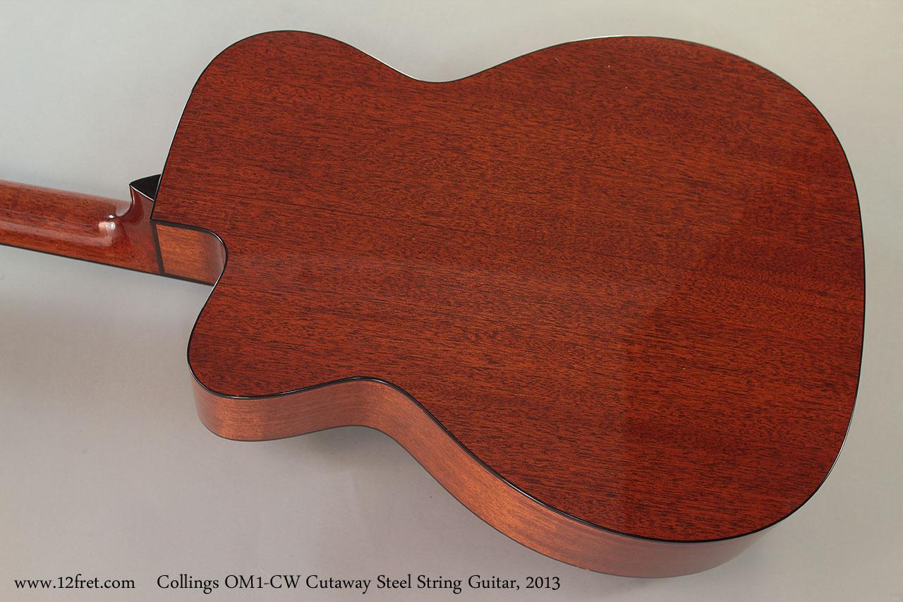 Collings OM1-CW Cutaway Steel String Guitar, 2013 Back
