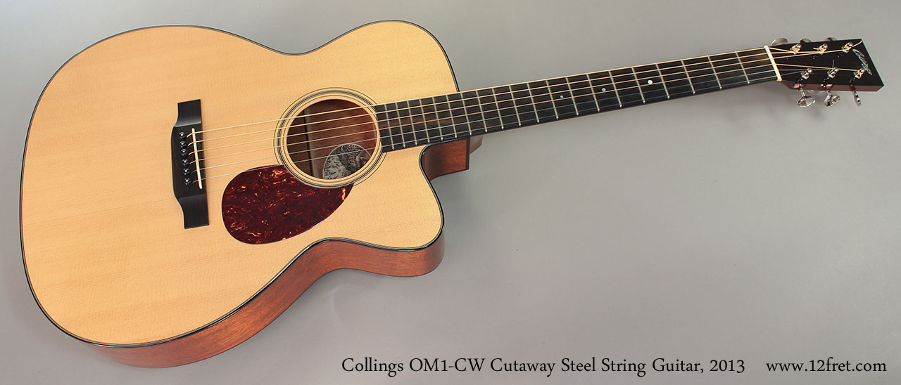Collings OM1-CW Cutaway Steel String Guitar, 2013 Full Rear View