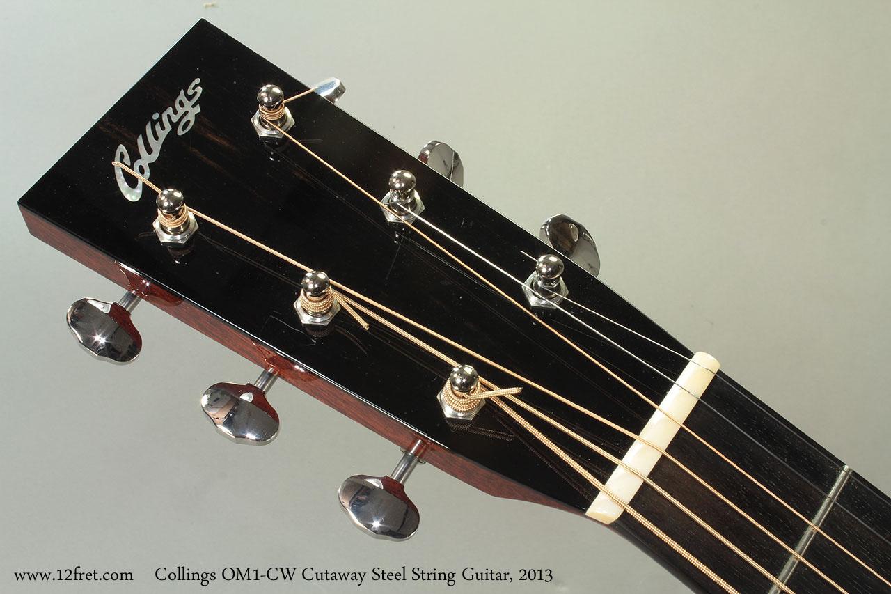 Collings OM1-CW Cutaway Steel String Guitar, 2013 Head Front