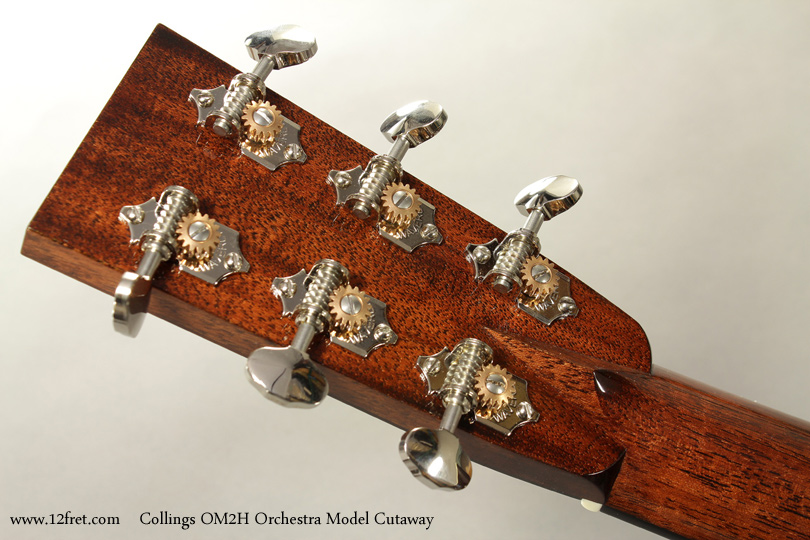 Collings OM2H Orchestra Model Cutaway head rear