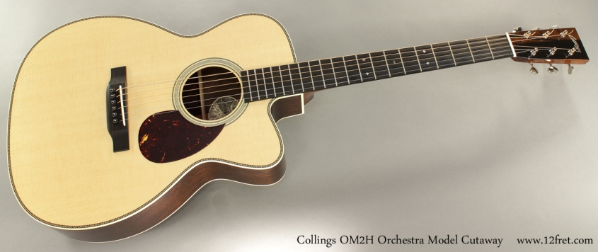 Collings OM2H Orchestra Model Cutaway full front view