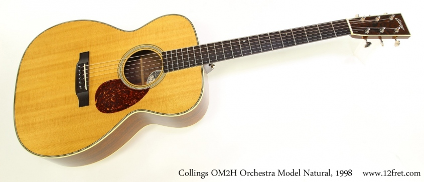 Collings OM2H Orchestra Model Natural, 1998 Full Front View