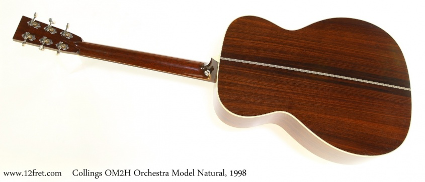 Collings OM2H Orchestra Model Natural, 1998 Full Rear View