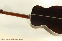 Collings OM2H Steel String Guitar  Full Rear View