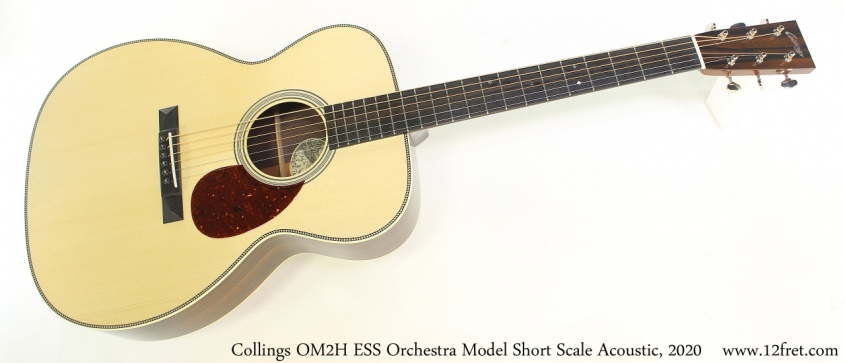Collings OM2H ESS Orchestra Model Short Scale Acoustic, 2020 Full Front View