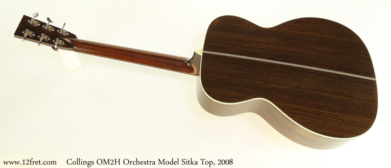 Collings OM2H Orchestra Model Sitka Top, 2008 Full Rear View