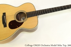 Collings OM2H Orchestra Model Sitka Top, 2008 Full Front View