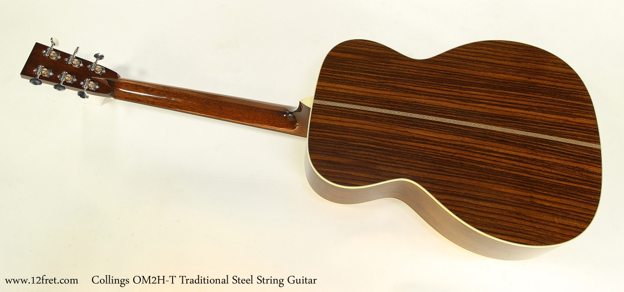 Collings OM2H-T Traditional Steel String Guitar  Full Rear View