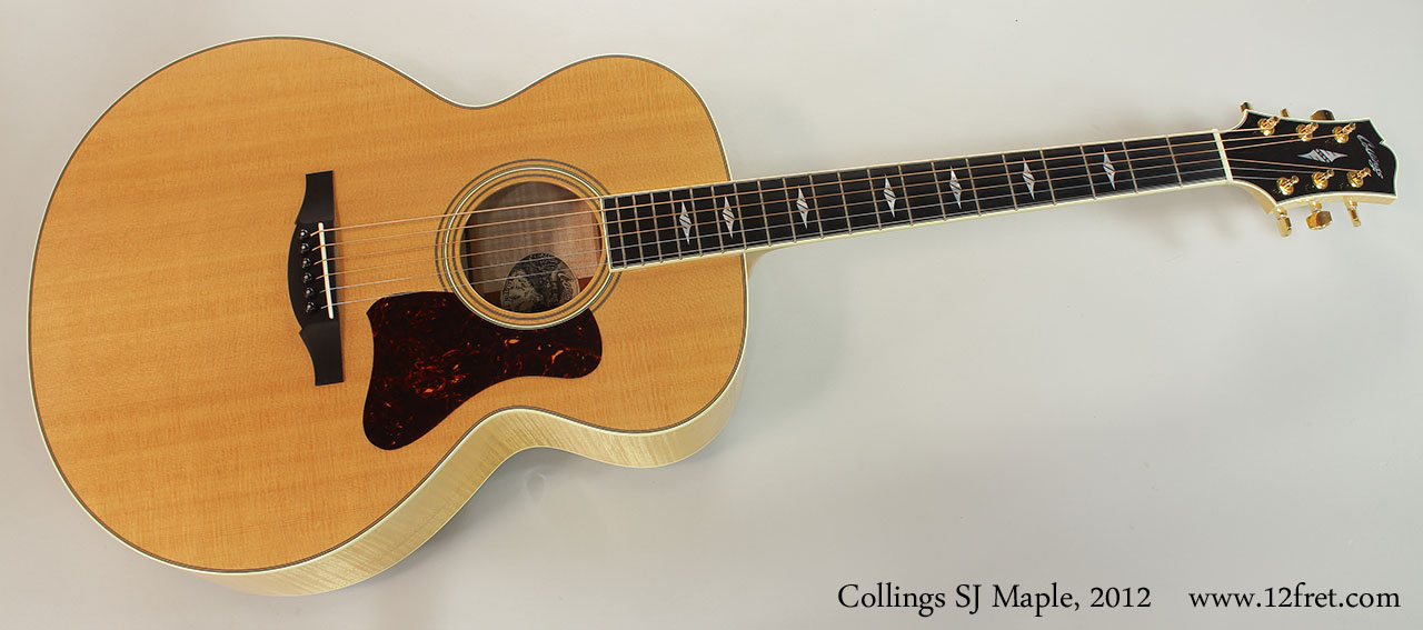 Collings SJ Maple, 2012 Full Front VIew
